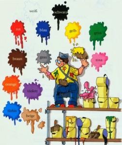 ngjyrat gjermanisht